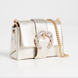 Tori Burch Greer Metallic Leather Mini Bag
